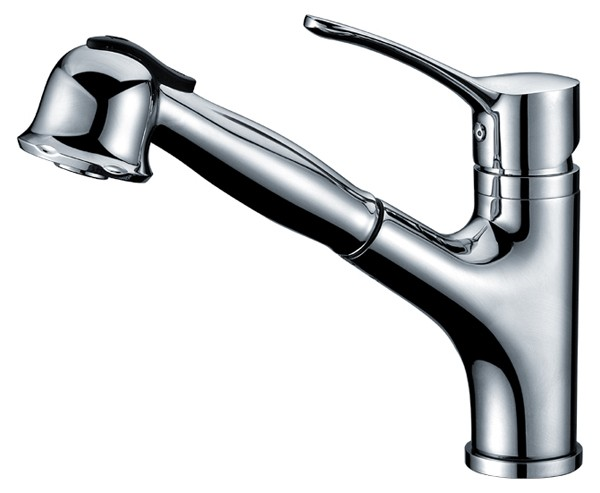 Buy Single Lever Pull Out Spray Kitchen Sink Faucet Chrome
