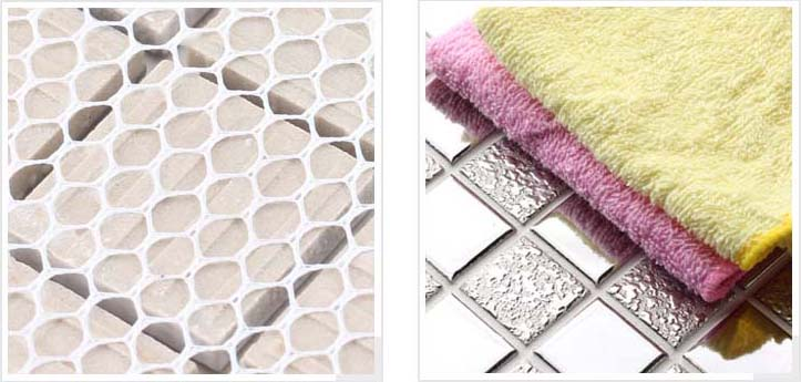 mesh mounted, smooth plating mirror tile - hd-299