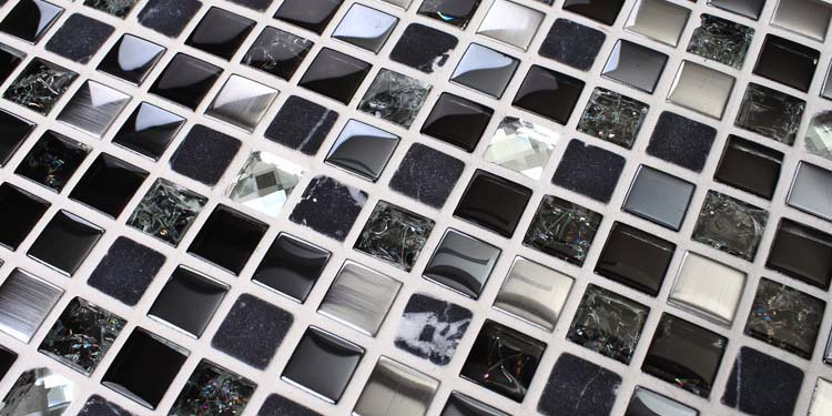 metal glass mosaic tile stainless steel stone blend - ks66b
