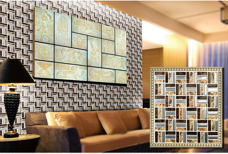metal glass mosaic wall sticker - d197