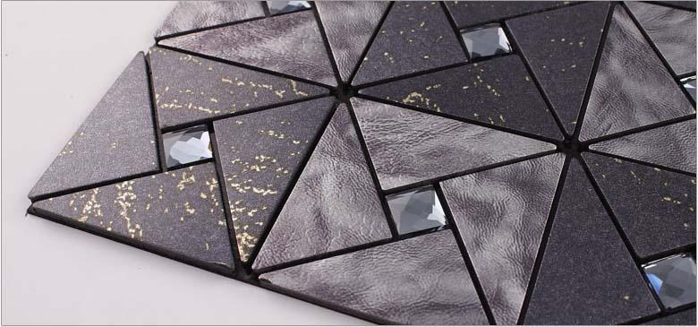 Metallic Tile Backsplash Kitchen Diamond Crystal Glass
