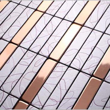 Wholesale Metallic Mosaic Tile Aluminum Panel Wall