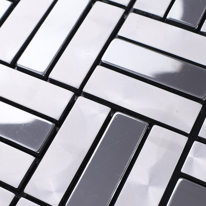Panel Aluminium Strip : Wholesale metallic mosaic tile aluminum panel wall