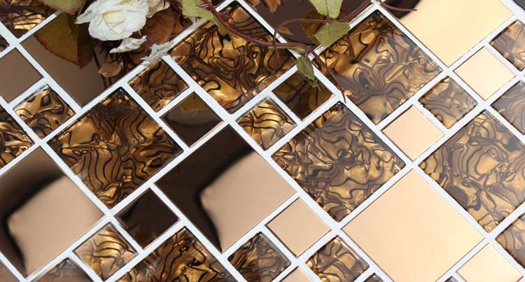 metallic wall tiles - kls033