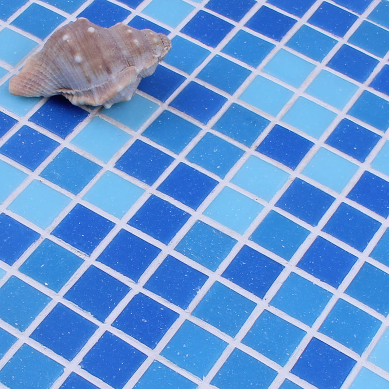 mosaic tile crystal glass backsplash washroom design bathroom wall floor swimming pool tiles blue - Swimming Pool Tile Designs