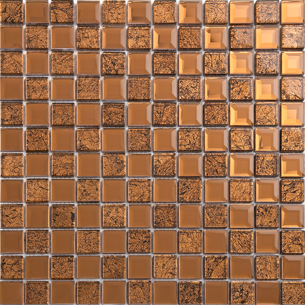 Brown Mirror Glass Tile Crystal Tile Square Wall