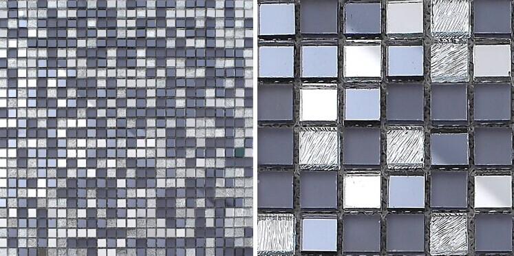 Glass mosaic tiles mirrored crystal backsplash tile for Cracked mirror tiles