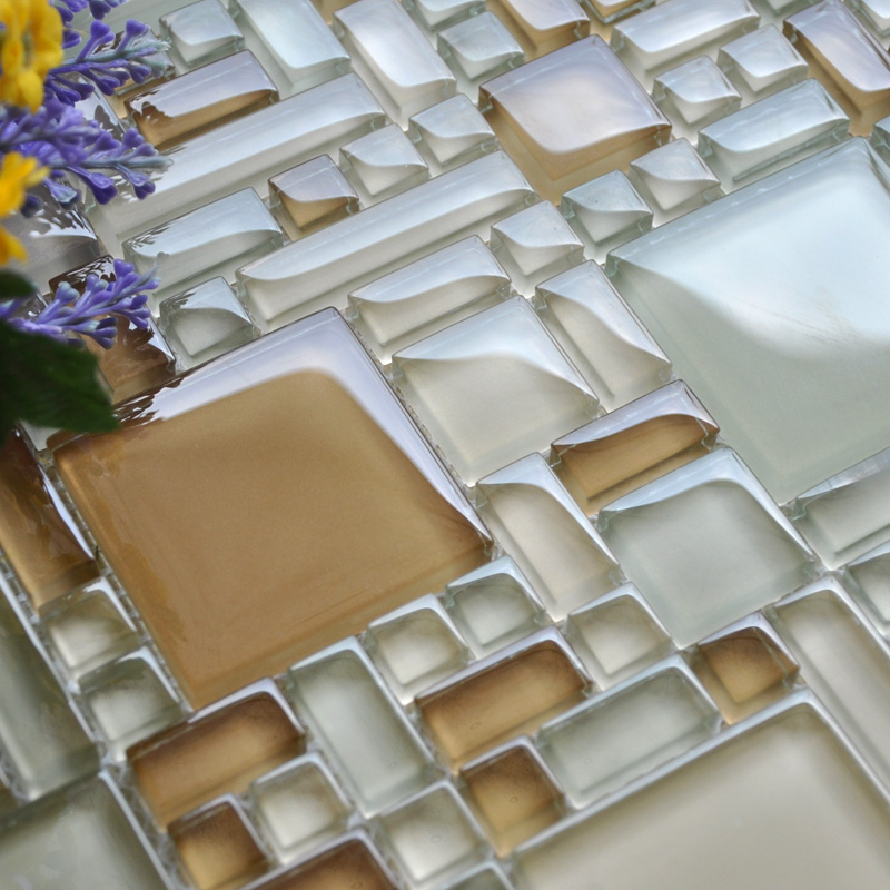 Wholesale Mosaic Tile Crystal Glass Backsplash Kitchen Countertop Design  Shower Bathroom Wall Floor Tiles