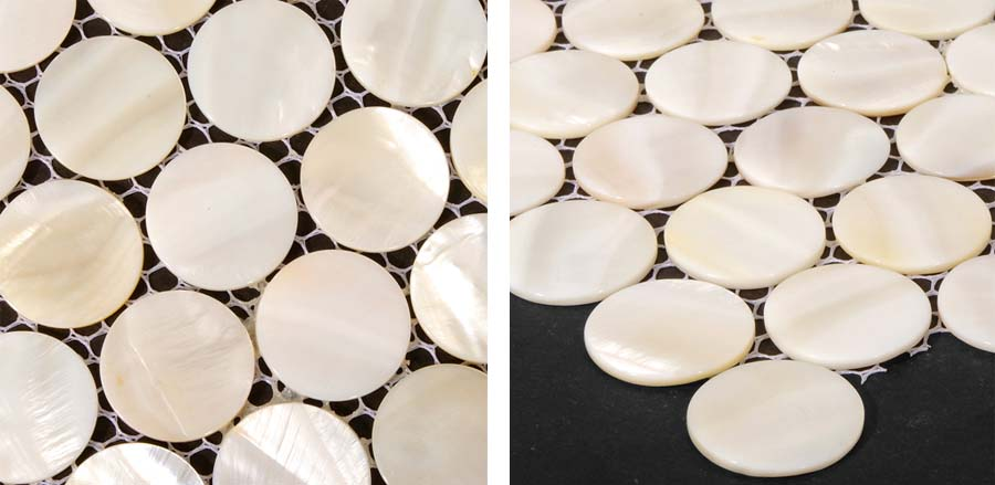mother of pearl bathroom wall mirror tile details - st006