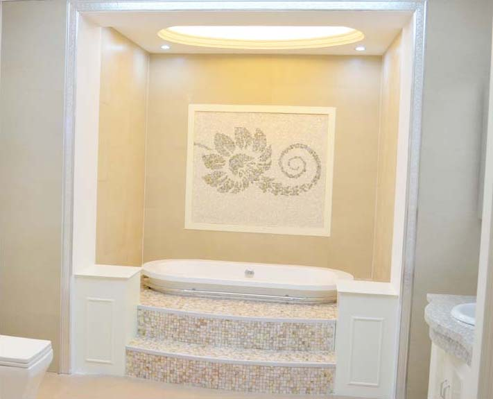 Mother Of Pearl Shower Floor And Wall Tile