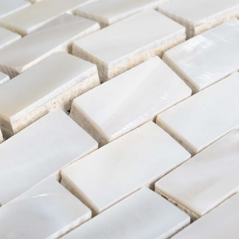 Wholesale Natural White Shell Tile Backsplash Interior Wall Subway