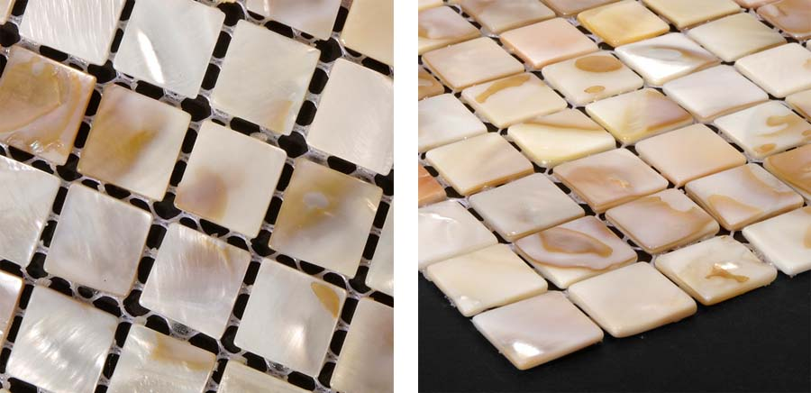 mother of pearl shell tile details - st002