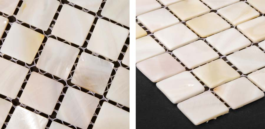 mother of pearl shell tile details - st003