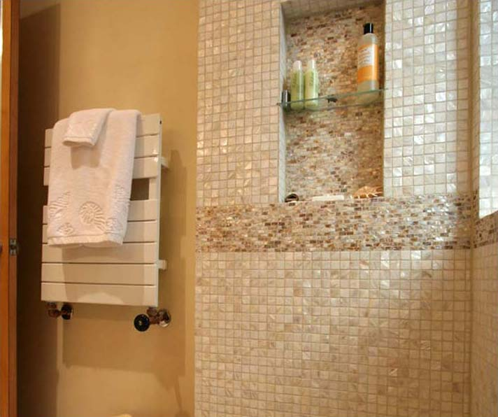 Mother Of Pearl Tile Shower Liner Wall Backsplash