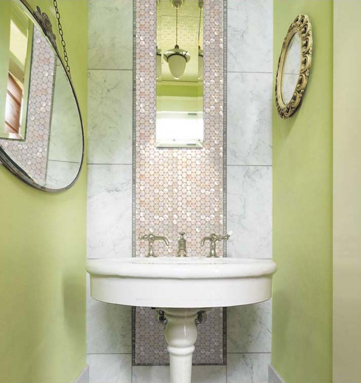 Mother Of Pearl Tile Bathroom Wall Mirror Tiles   St006