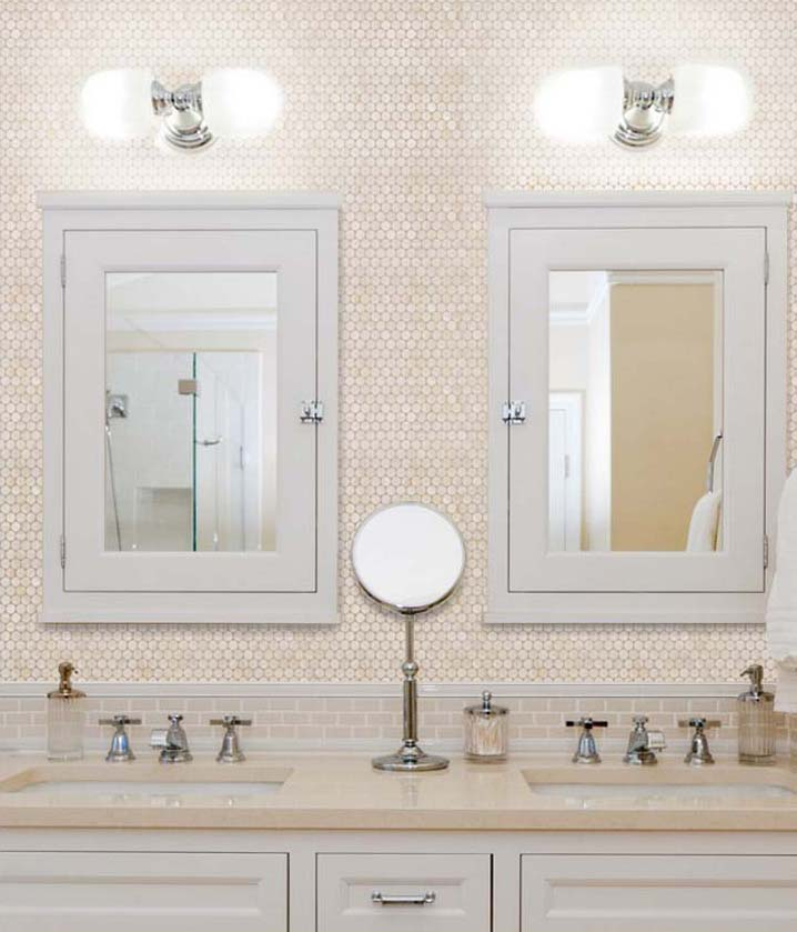 Mother Of Pearl Tile Bathroom Wall Mirror Tiles   St008
