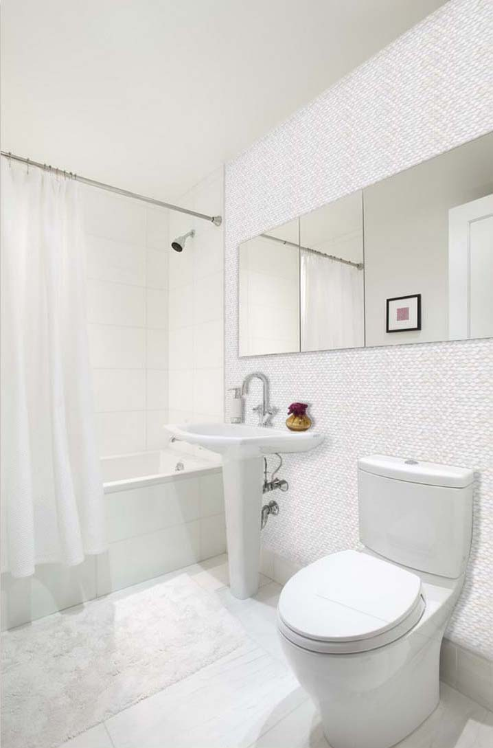 Mother Of Pearl Shell Tile Backsplash Bathroom Wall Sticker