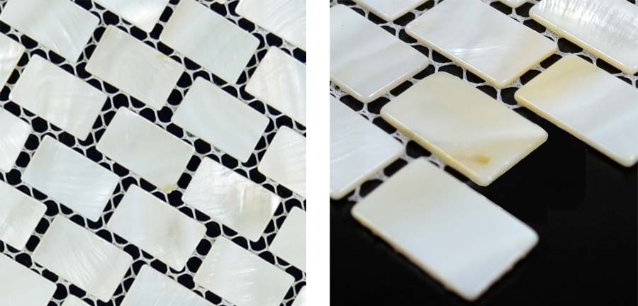 mother of pearl tile details natural white mesh mounted shell mosaic - st054