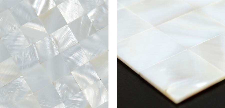 mother of pearl tile details seamless mesh mounted shell tiles - st058