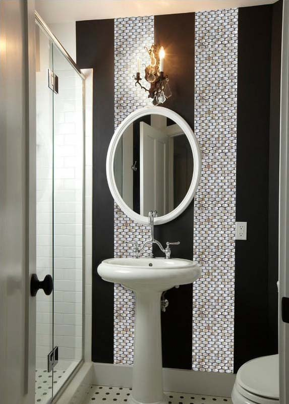 mother of pearl tile for bathroom mirrored wall sticker - st067