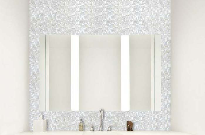 mother of pearl tile for bathroom mirrored wall sticker - st076