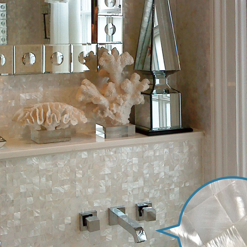 mother of pearl tile for bathroom wall sticker - st076