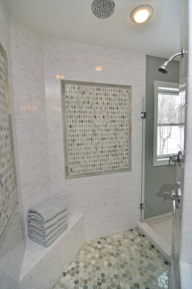 mother of pearl tile for shower wallpaper - st068