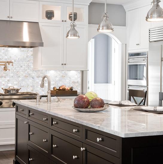mother of pearl kitchen backsplash tile design fresh water iridescent