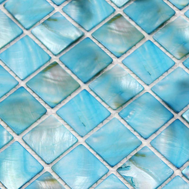 Shell Tiles 100 Blue Seashell Mosaic Mother Of Pearl