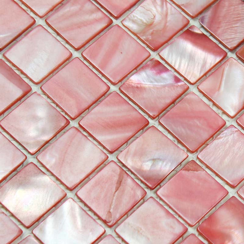 Shell Tiles 100 Pink Seashell Mosaic Mother Of Pearl
