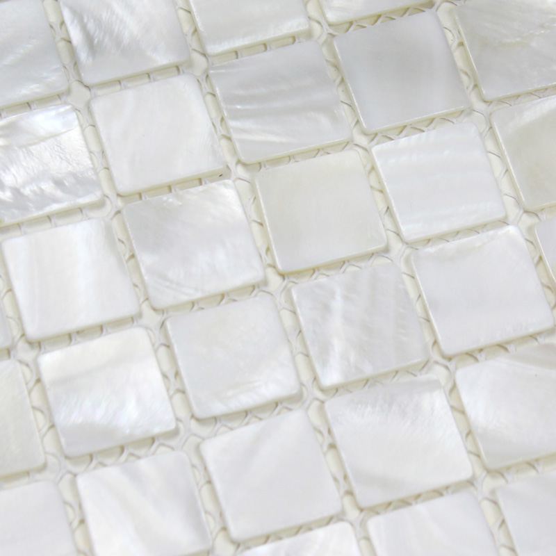 Seashell Backsplash Tile: Shell Tiles 100% White Seashell Mosaic Mother Of Pearl