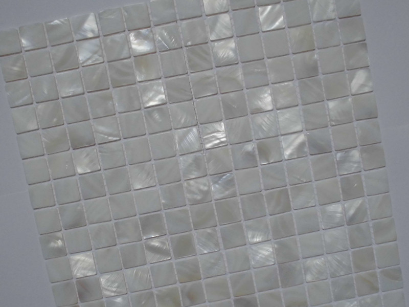 Mother Of Pearl Tile Shower Liner Wall Backsplash White