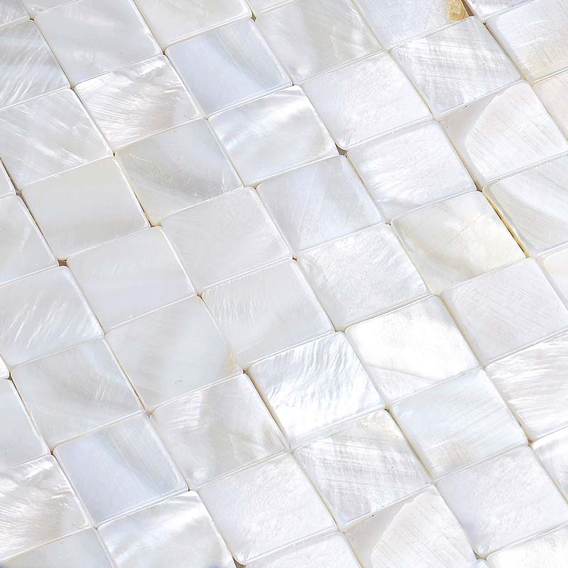 White Subway Tile Backsplash >> Seamless shell tiles natural seashell mosaic white mother