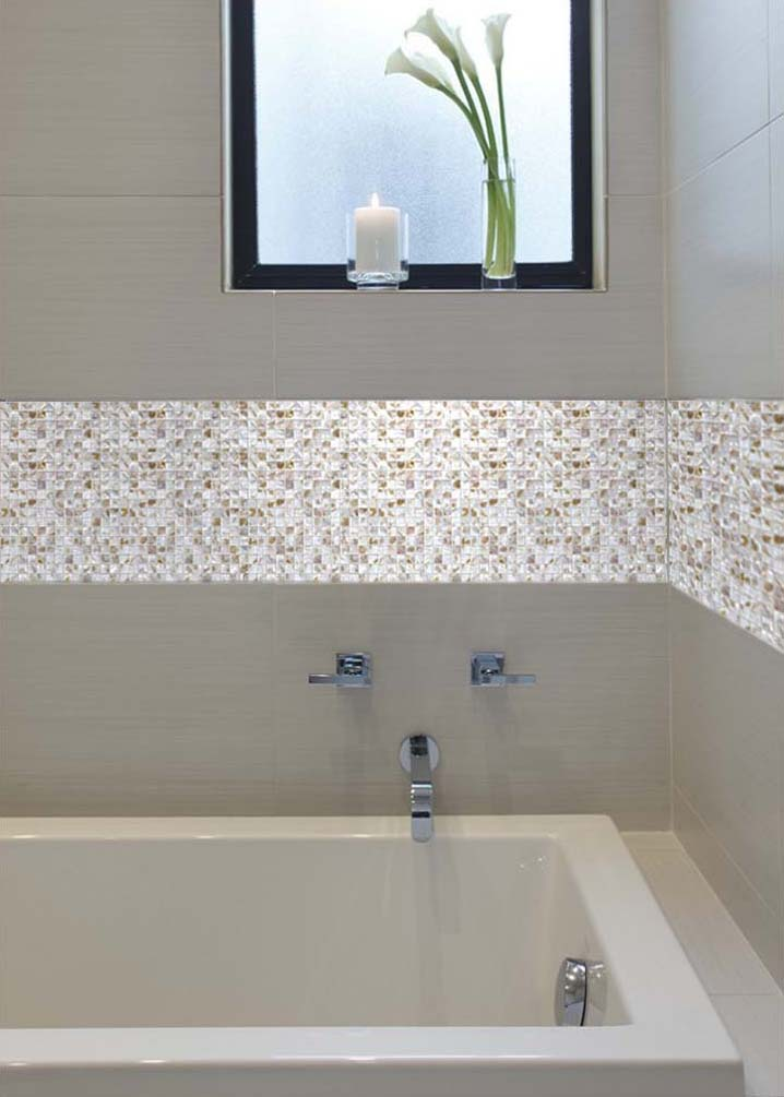 Mother Of Pearl Shell Mosaic Tile Shower Liner Wall Bath