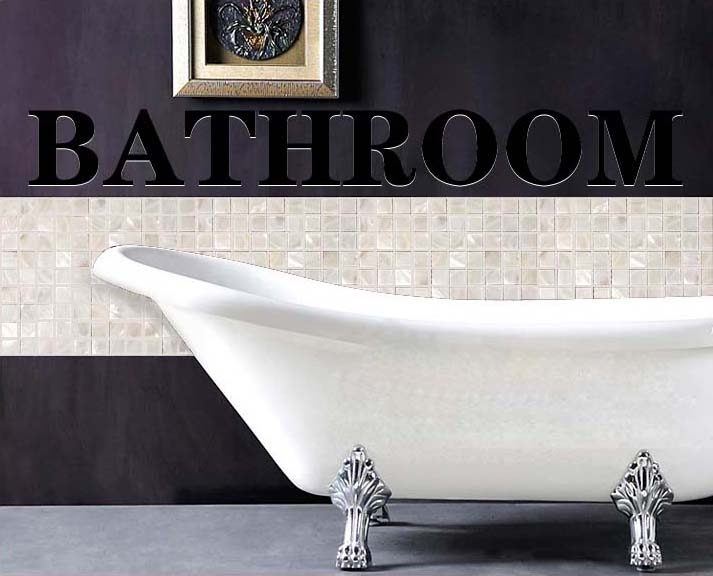 Mother of pearl tile shower liner wall backsplash for Tub wall liners
