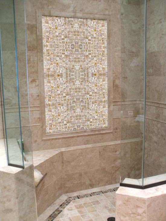 mother of pearl tile shower wall and floor tiles - st005