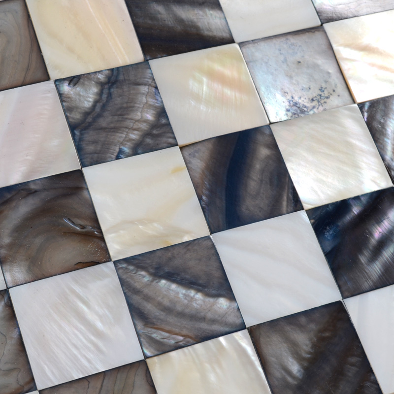 shell mosaic tiles black u0026 white mother of pearl tile backsplash seashell mosaics pearl wall
