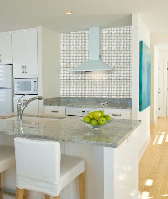 White Pearl Backsplash Part - 16: Natural White Mother Of Pearl Tile Kitchen Backsplash - St048