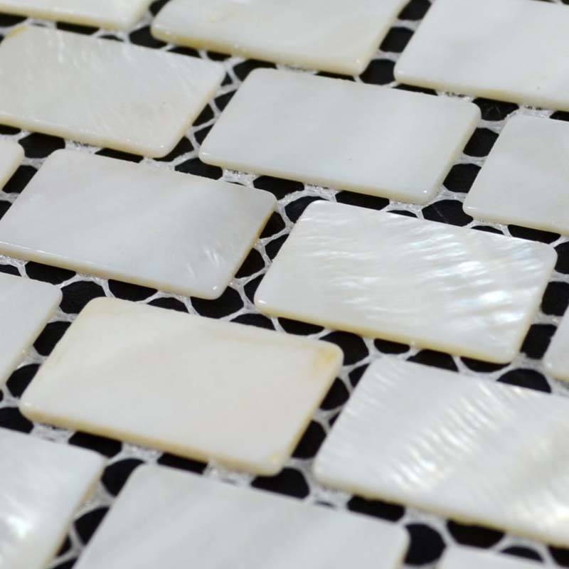 Wholesale Natural White Mother Of Pearl Tile Sheets Subway Shell