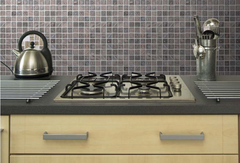 tile mosaic grey square ocean patterntiles kitchen backsplash kitchen