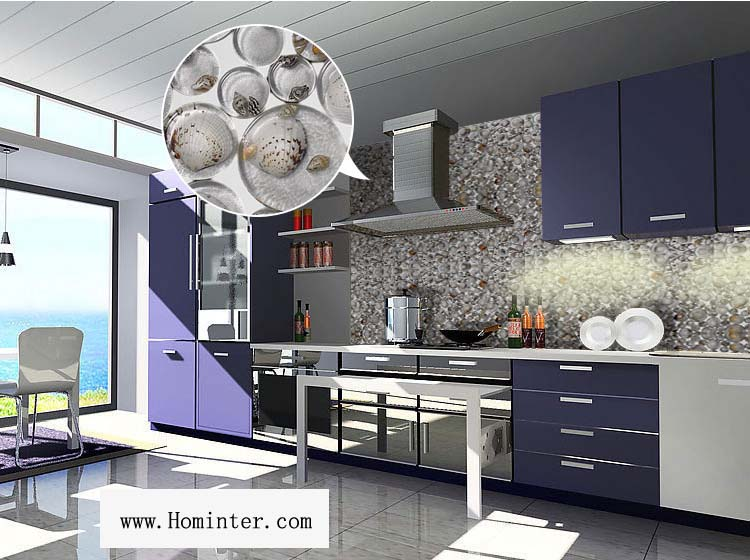 glass with shell mosaic tile for kitchen backsplash wall stickers