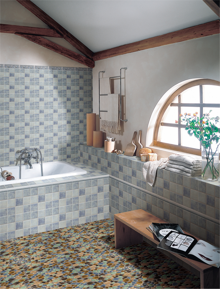 pebble porcelain mosaic tile bathroom floor stickers - 4789