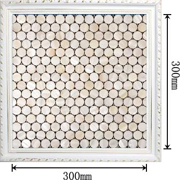 penny round mother of pearl bathroom wall mirror tile - st008