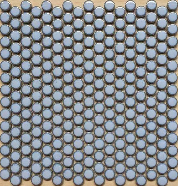 Penny Round Porcelain Light Blue Tile
