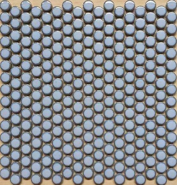 Penny Round Porcelain Light Blue Tile