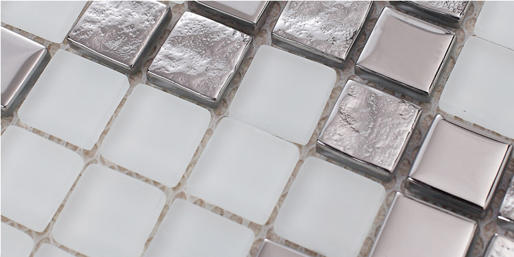 plated crystal glass tile frosted vitreous mosaic wall tiles - 2131