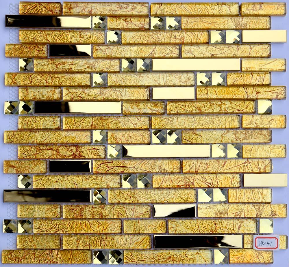 Metal And Glass Diamond Chrome Stainless Steel Backsplash