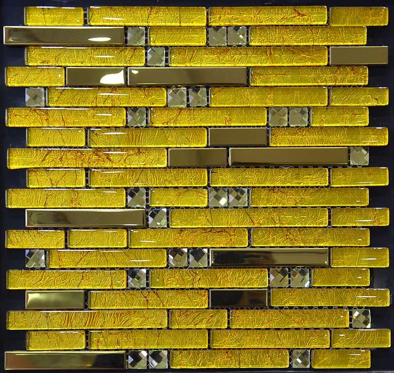 Metal And Glass Diamond Stainless Steel Backsplash Wall