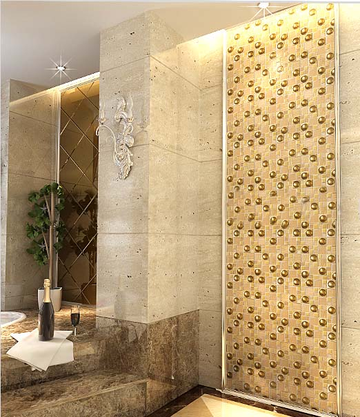 porcelain glass mosaic tile for washroom wall stickers decoration - yg82