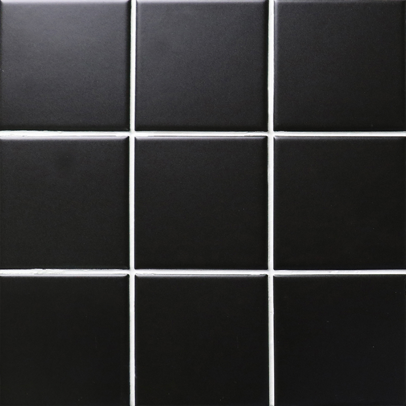 Black Matte Porcelain Tile Non Slip Tile Washroom Shower